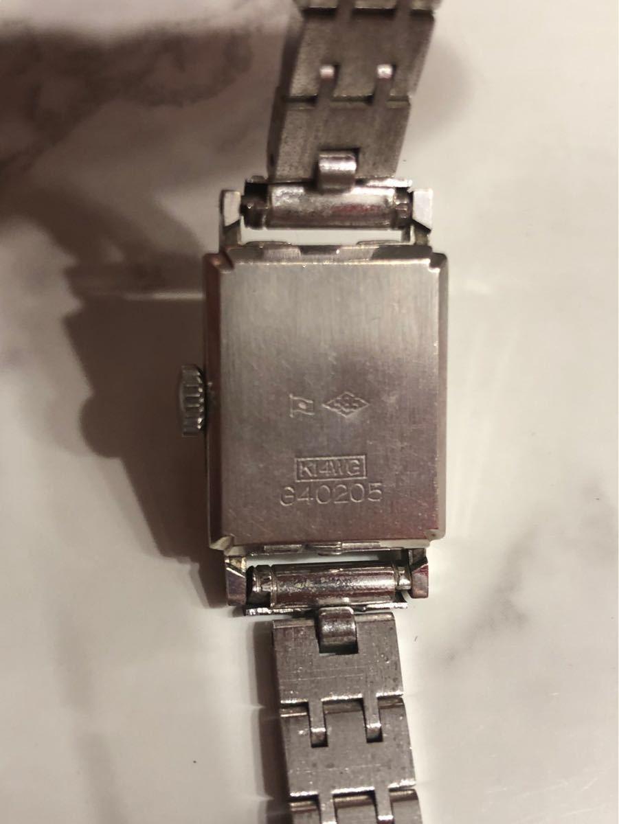 CITIZEN シチズン GRACE グレース 23石 K14WG 金無垢 レディースウォッチ 腕時計 アンティーク 585刻印有り_画像2