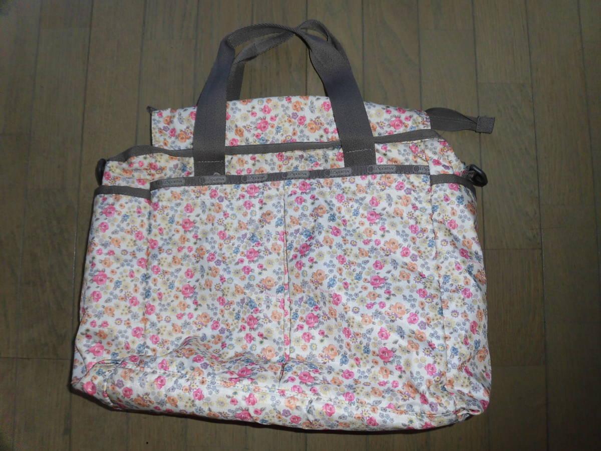 レスポートサック★ライアンベビートート、花柄ママバッグ、マザーズバッグ、大き目バッグ、大容量_画像1