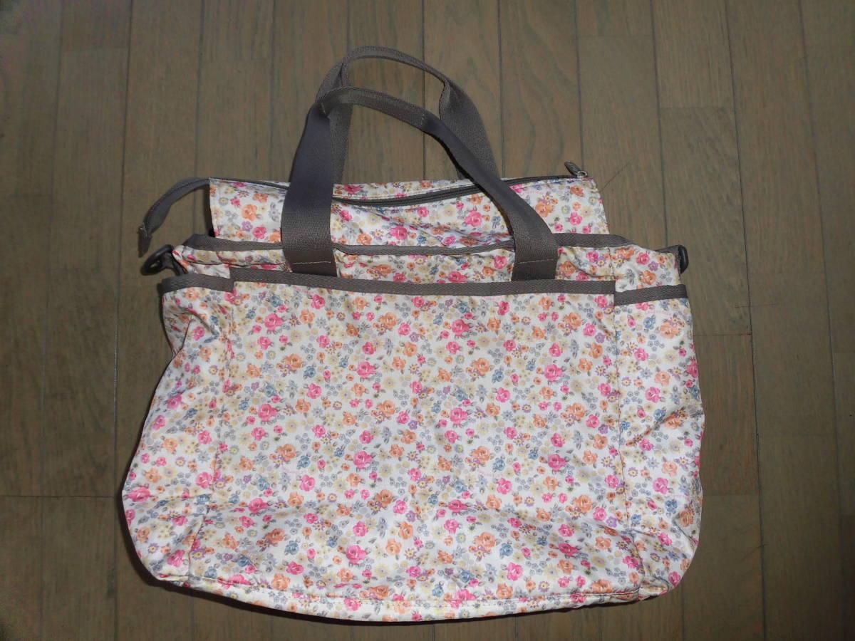 レスポートサック★ライアンベビートート、花柄ママバッグ、マザーズバッグ、大き目バッグ、大容量_画像2