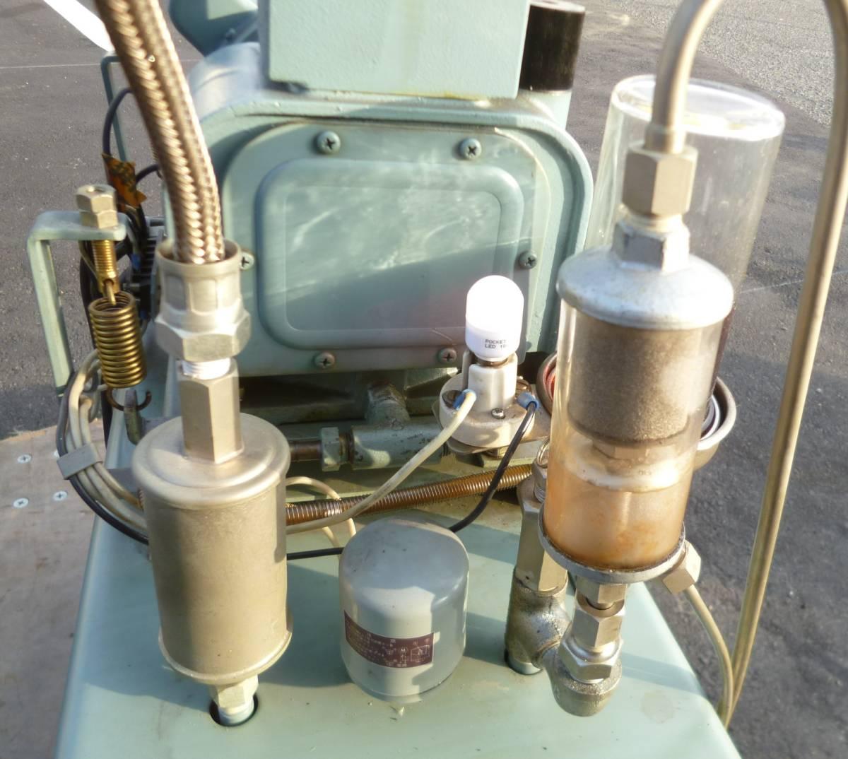 K7096c モリタ 日立 歯科用コンプレッサー A-9 ハイブロウ 100V 60Hz 4.8kg/cm^2_画像5