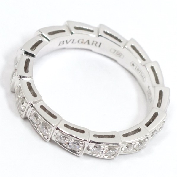 BVLGARI ブルガリ セルペンティ リング フルパヴェ ダイヤモンド 750WG(K18WG) #51(10号弱)_画像2