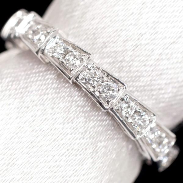 BVLGARI ブルガリ セルペンティ リング フルパヴェ ダイヤモンド 750WG(K18WG) #51(10号弱)_画像1