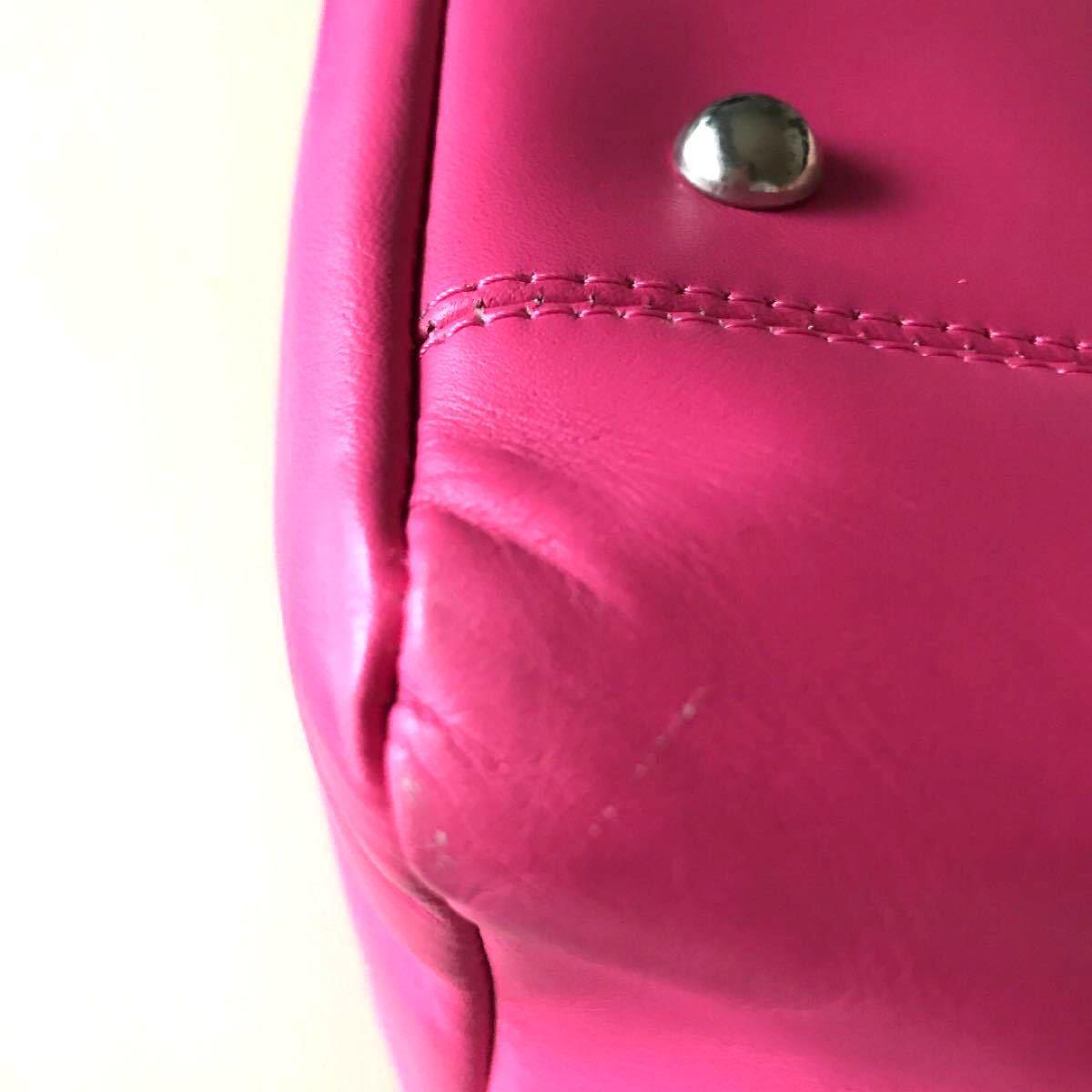 トートバッグ  本革 レディース ピンク A4サイズ 使いやすい 通勤 通学