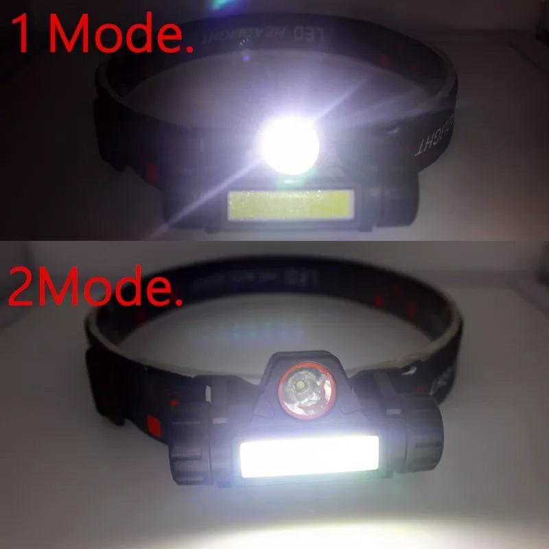 【送料無料】LEDヘッドライト 超強力 LED ライト 懐中電灯 防犯 防災 アウトドア ウオーキング 携帯ライト LEDハンディライト _画像2