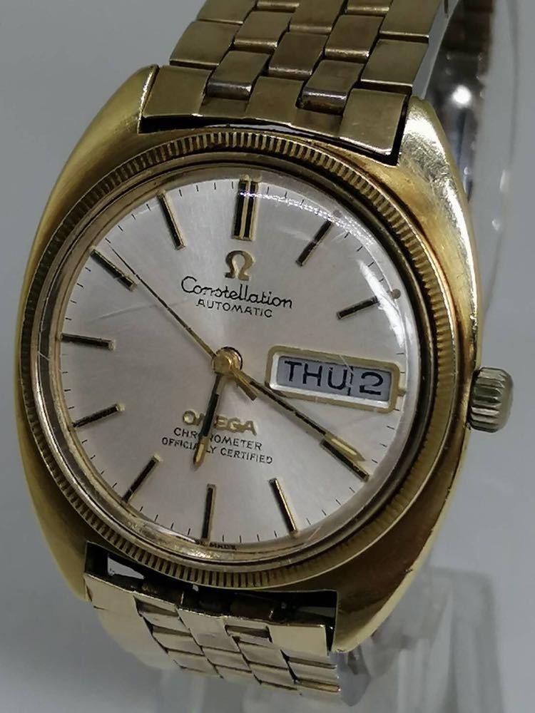 《激安》OMEGA オメガ コンステレーション デイデイト アンティーク メンズ 腕時計 自動巻き