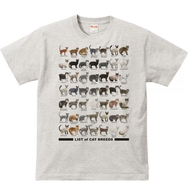 猫のリスト/半袖Tシャツ/メンズS/杢_猫のリスト/半袖Tシャツ/メンズS