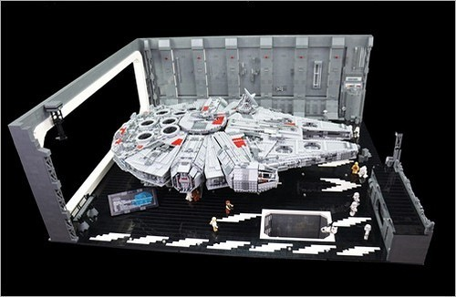 MOC LEGO レゴ ブロック 05132 75192 互換 7805pcs スター・ウォーズ UCS ミレニアム・ファルコン ドック ベイ 格納庫 DL012_画像2