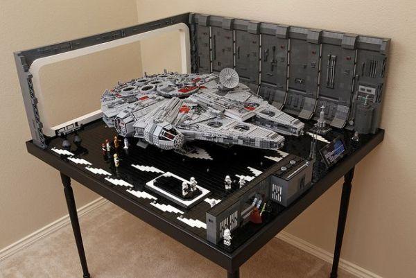 MOC LEGO レゴ 05132 75192 互換 7805pcs スター・ウォーズ UCS ミレニアム・ファルコン ドック ベイ 格納庫 LEDライト付き DL013_画像9