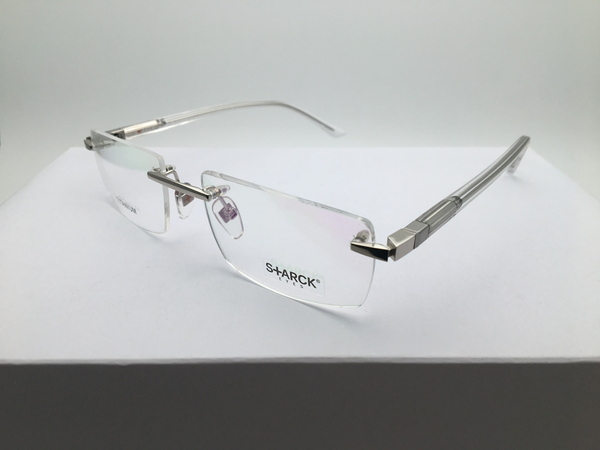■ガネフレーム PL1393 0021 STARCK EYES スタルクアイズ チタン製 360°回転 縁なし眼鏡