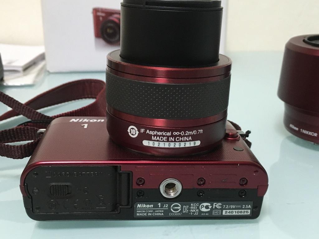 Nikon1 J2 ダブルズームキット(30-110mm F3.8-5.6 VR/10-30mm F3.5-5.6 VR) レッド ミラーレス一眼 SDカード付き 動作良好_画像8