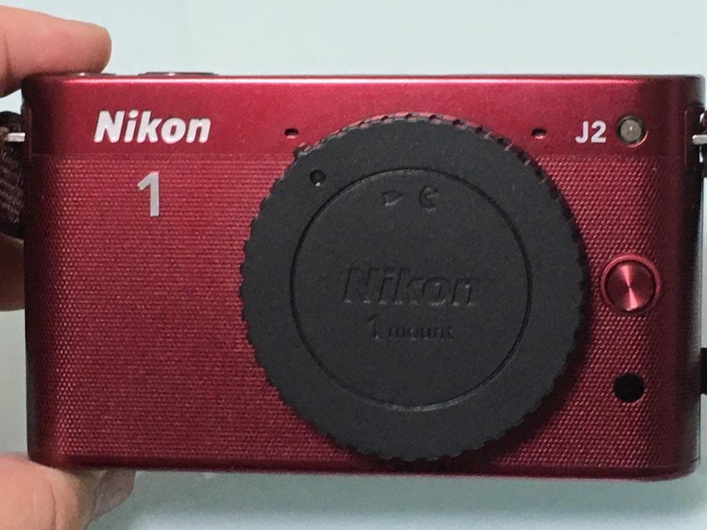 Nikon1 J2 ダブルズームキット(30-110mm F3.8-5.6 VR/10-30mm F3.5-5.6 VR) レッド ミラーレス一眼 SDカード付き 動作良好_画像3