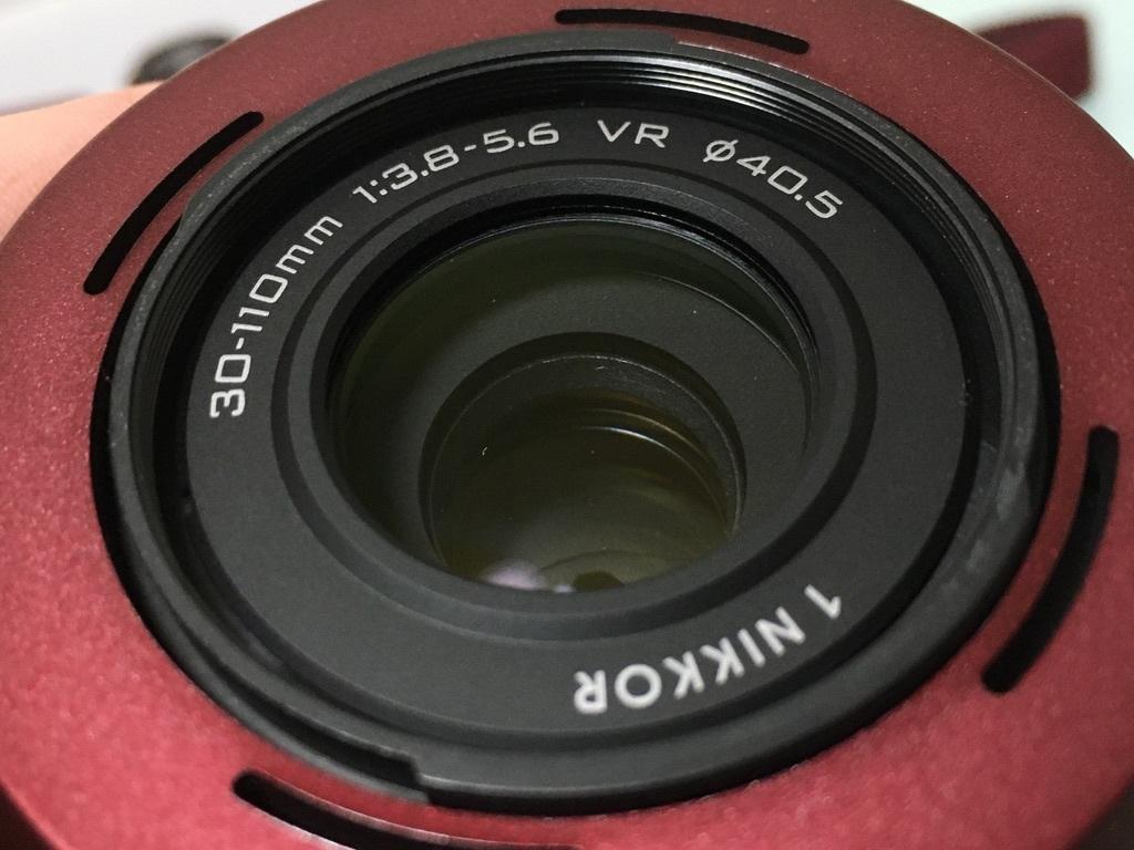 Nikon1 J2 ダブルズームキット(30-110mm F3.8-5.6 VR/10-30mm F3.5-5.6 VR) レッド ミラーレス一眼 SDカード付き 動作良好_画像5
