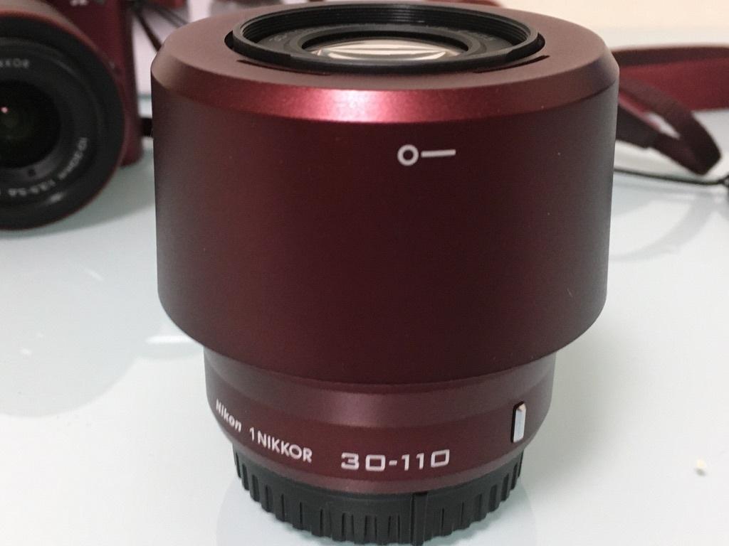Nikon1 J2 ダブルズームキット(30-110mm F3.8-5.6 VR/10-30mm F3.5-5.6 VR) レッド ミラーレス一眼 SDカード付き 動作良好_画像9