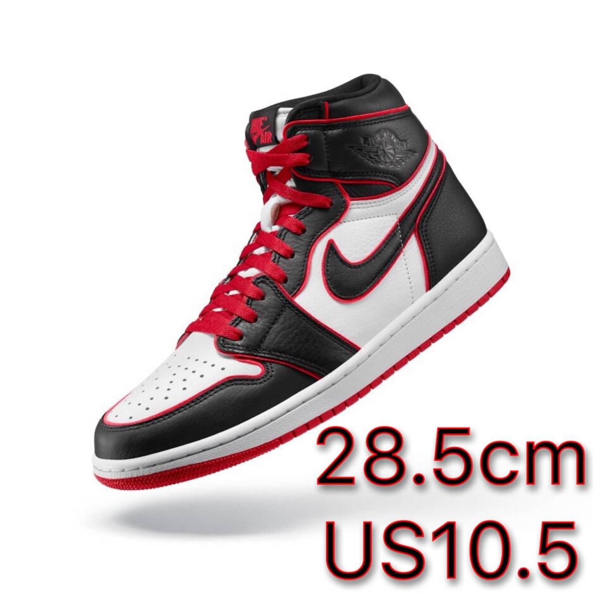 "28.5cm US10.5 NIKE AIR JORDAN 1 RETRO HIGH OG ""BLOODLINE"" WHO SAID MAN WAS NOT MEANT TO FLY ナイキエアジョーダン off-white dunk"