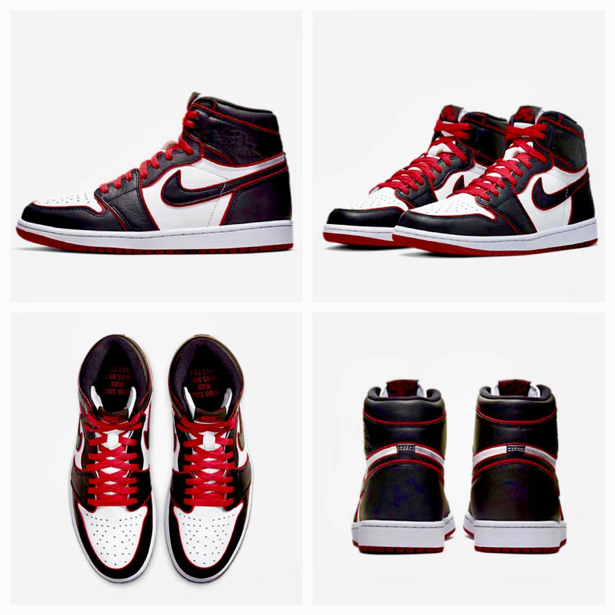 "28.5cm US10.5 NIKE AIR JORDAN 1 RETRO HIGH OG ""BLOODLINE"" WHO SAID MAN WAS NOT MEANT TO FLY ナイキエアジョーダン off-white dunk_画像4"