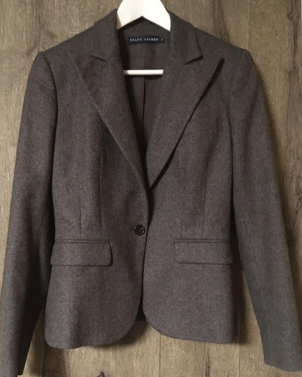 RALPH LAUREN ラルフローレン グレー ロングスカートスーツ レディーススーツ イタリー製 11_画像2