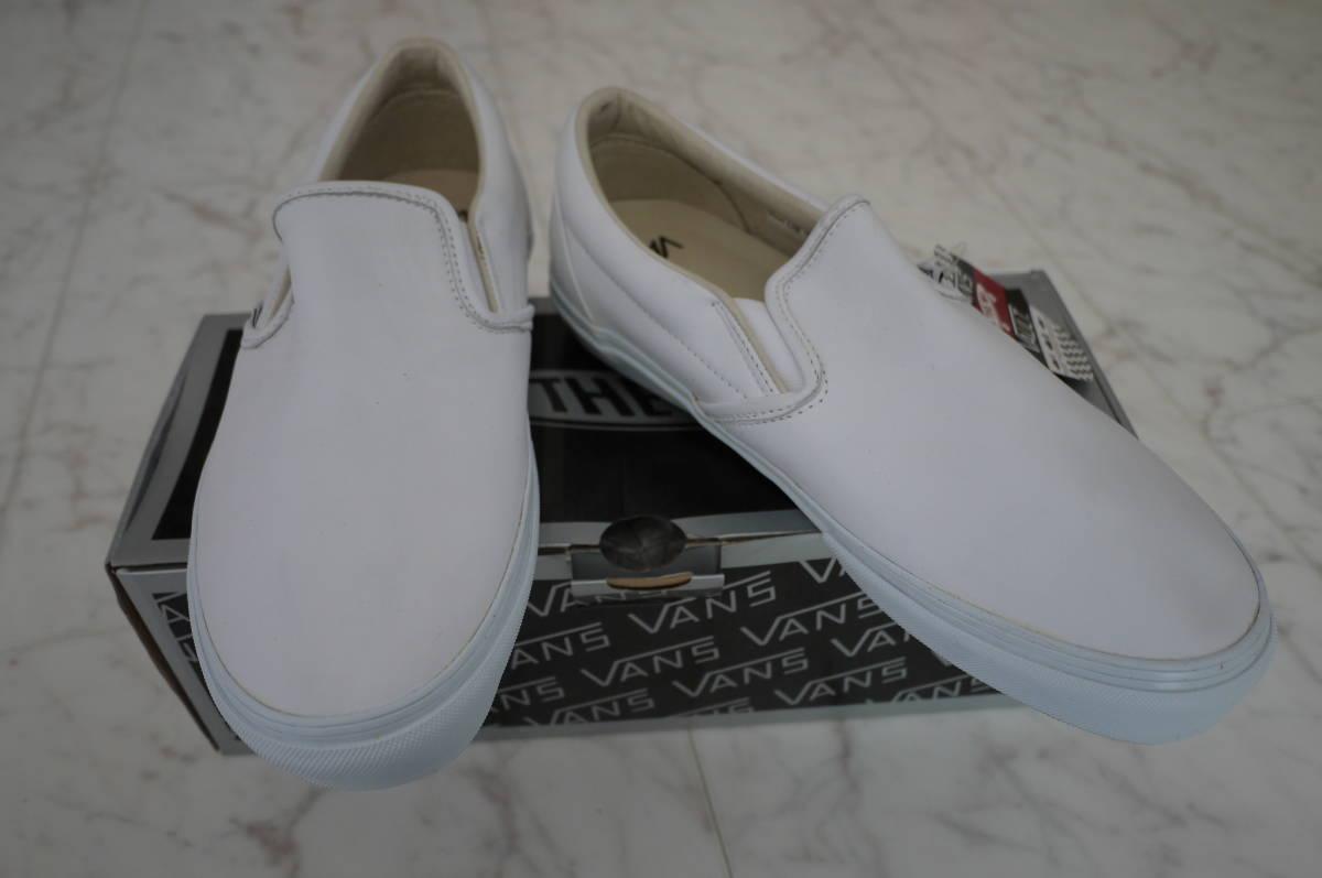 新品 未使用品 正規品 VANS Cls Slip-On LX スリッポンスニーカー ホワイト白 US10/28cm 定価10,000円+税(う)