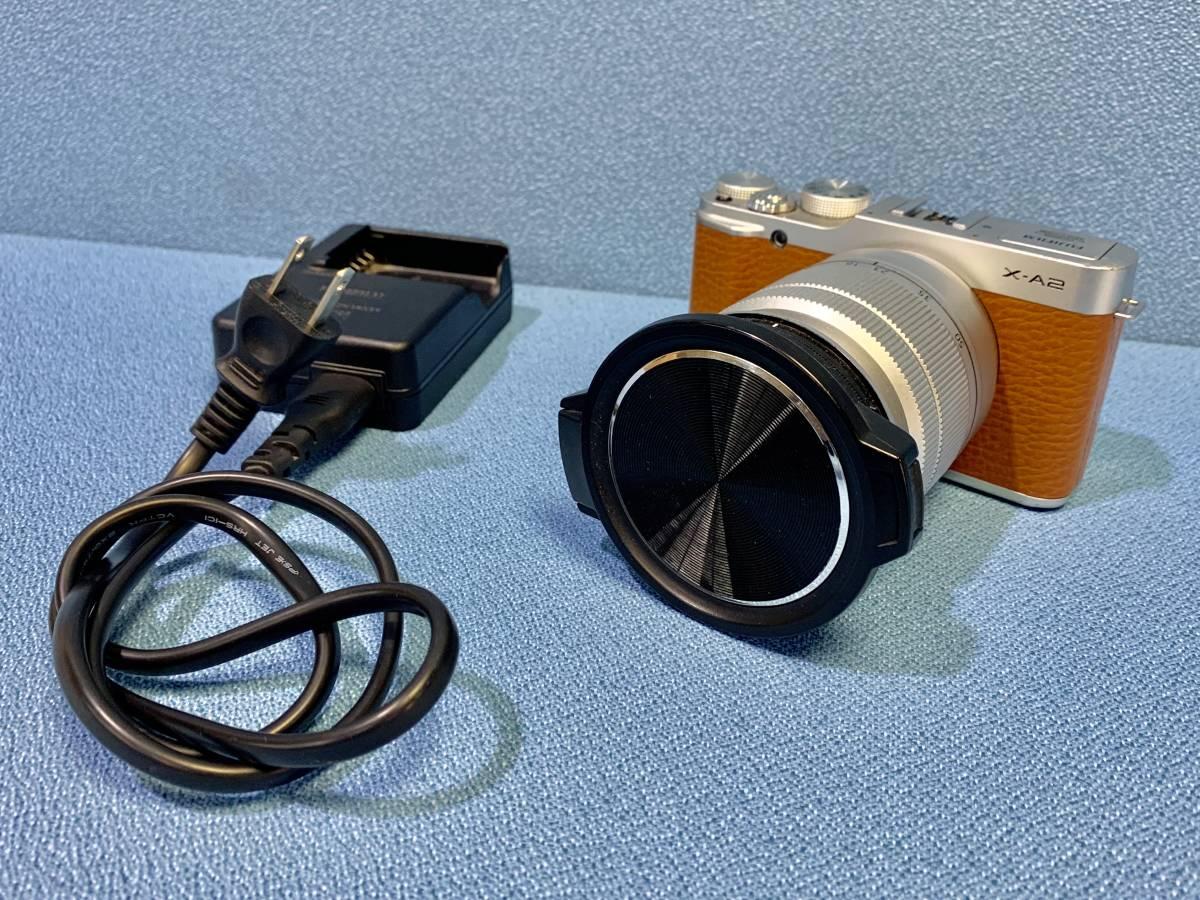 USED◆【富士フィルム FUJIFILM ミラーレス 一眼 デジタルカメラ ボディ レンズキット X-A2】◆バッテリー 充電器 本体 撮影 写真 中古