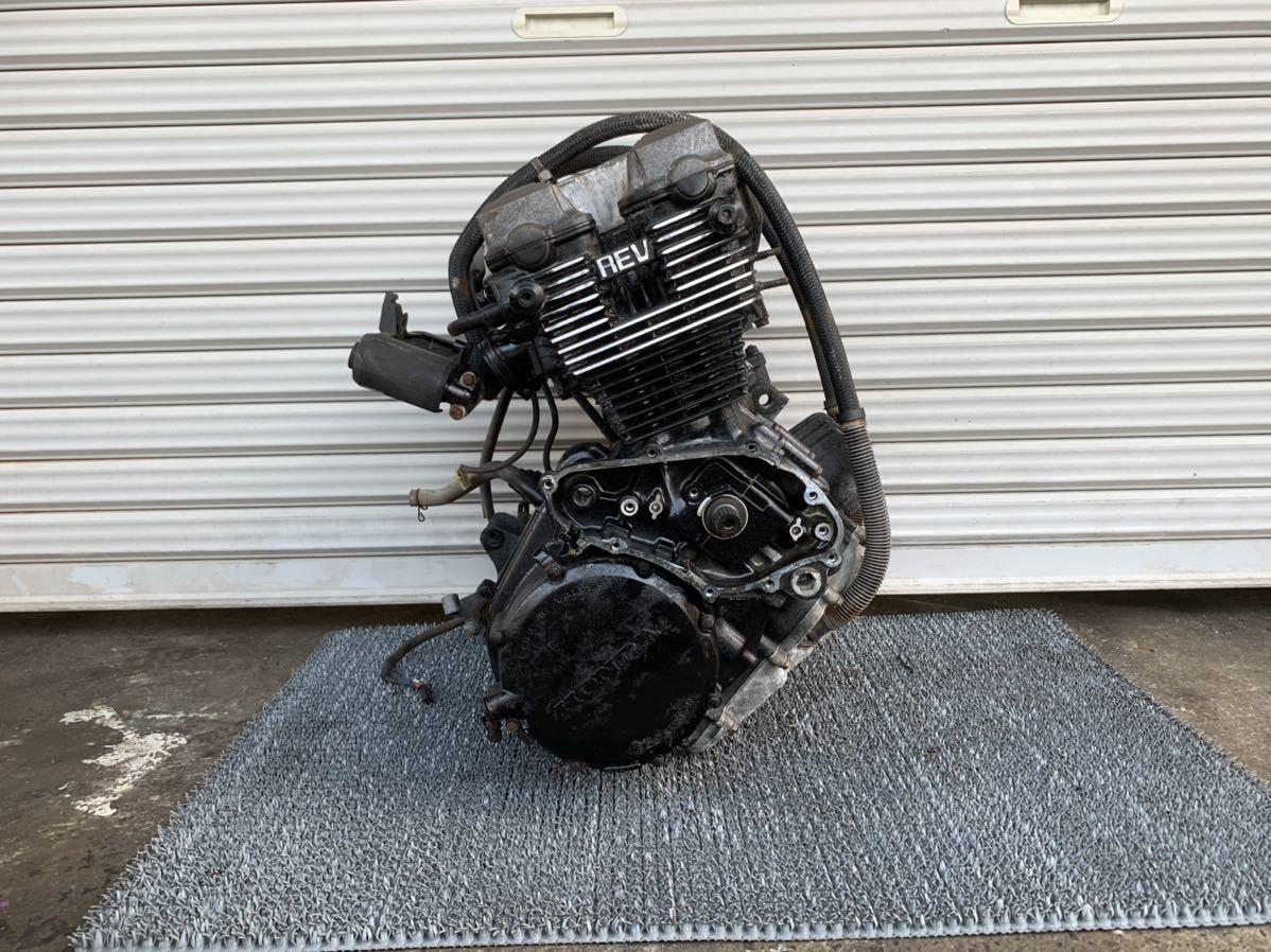 「極上 CBR400F NC17 純正 実働 エンジン 異音無し 始動動画有り 一台バラし出品中 当時物 CBX400F CBX550F」の画像1