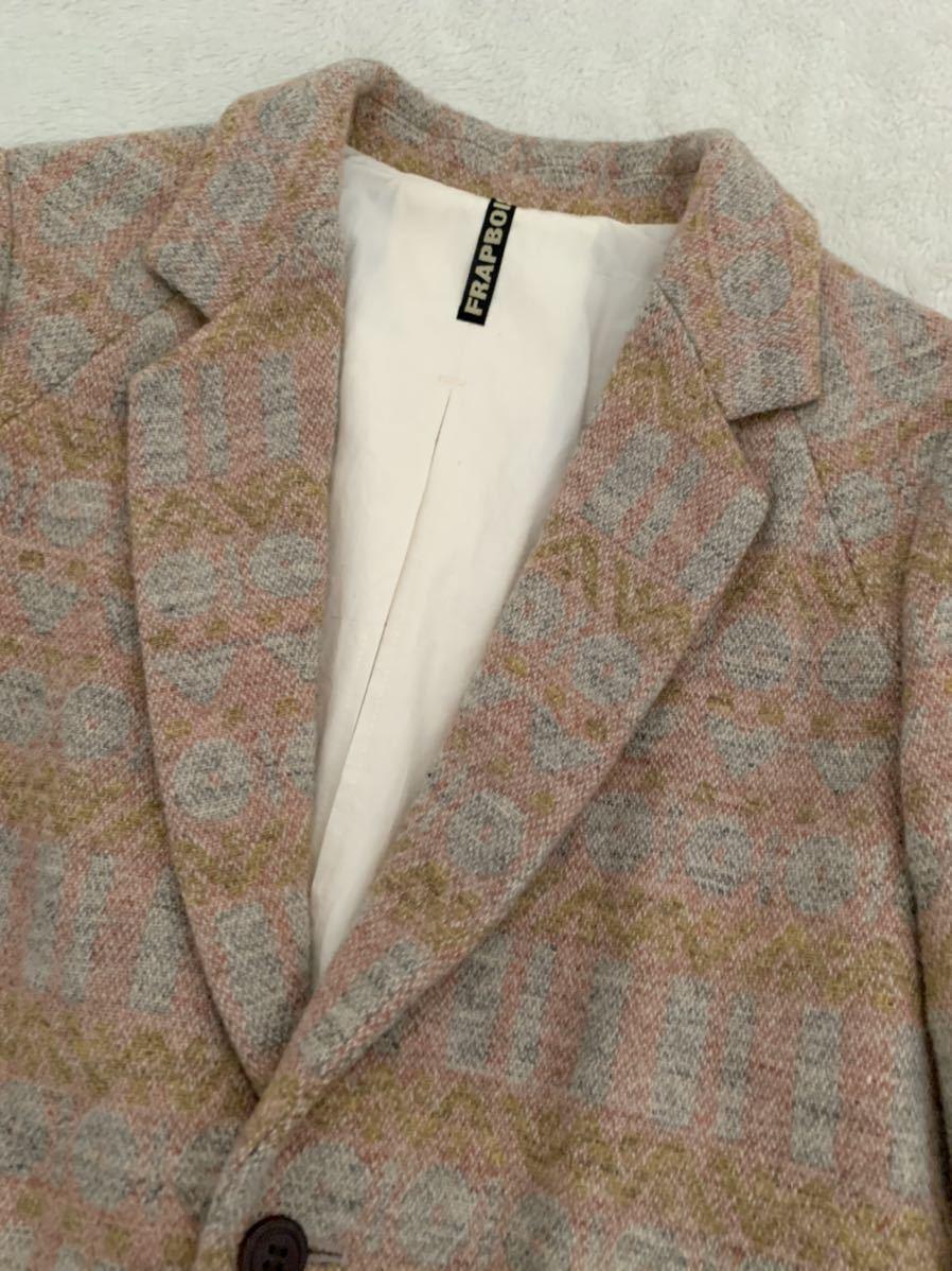 FRAPBOIS ツイードジャケット size0 フラボア レディース ブレザー_画像2