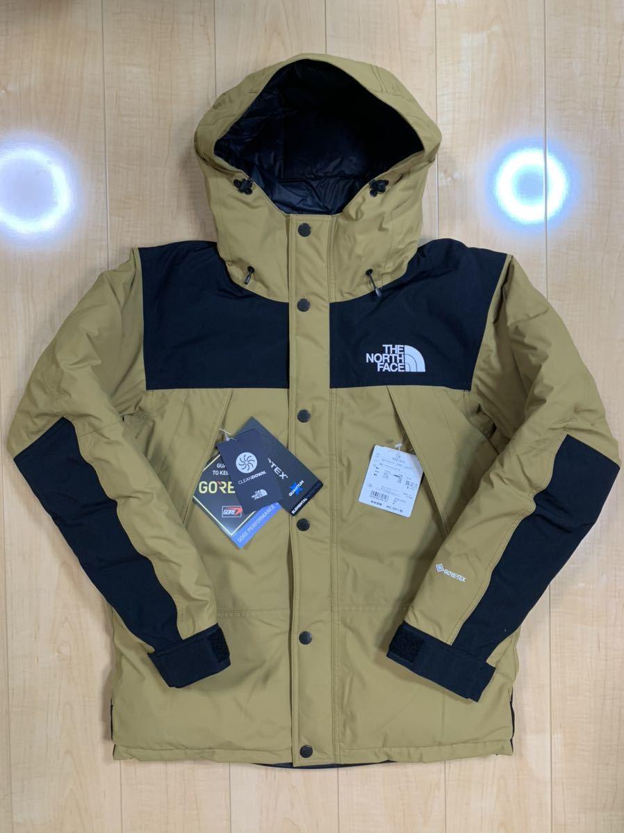 THE NORTH FACE 19FW Mountain Down Jacket ND91930 BK ブリティッシュカーキ Mサイズ 国内正規 新品 マウンテンダウンジャケット 19AW M