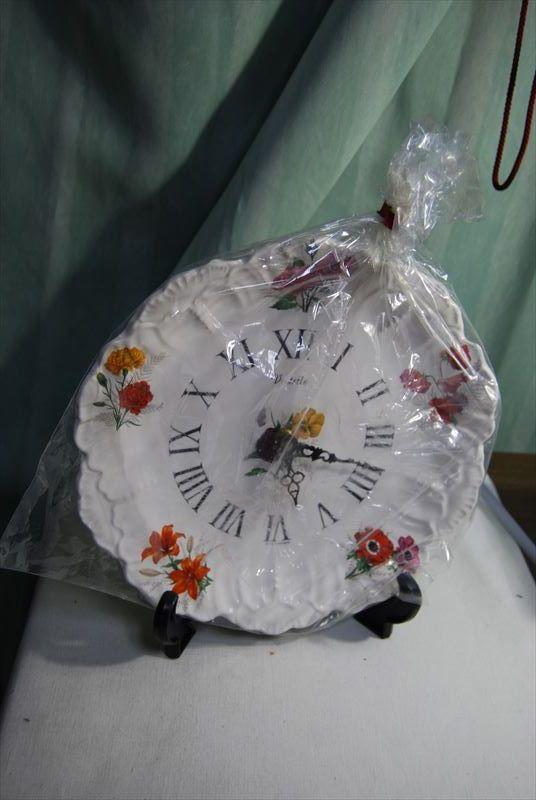 未使用 長期保管品 昭和レトロ フランス製 絵皿の時計 70年代 Vedette ベデット_画像9