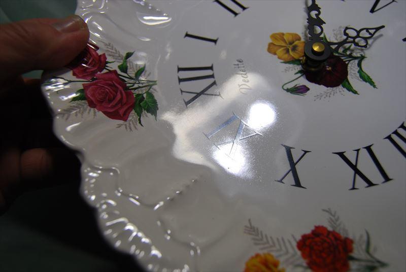 未使用 長期保管品 昭和レトロ フランス製 絵皿の時計 70年代 Vedette ベデット_画像4