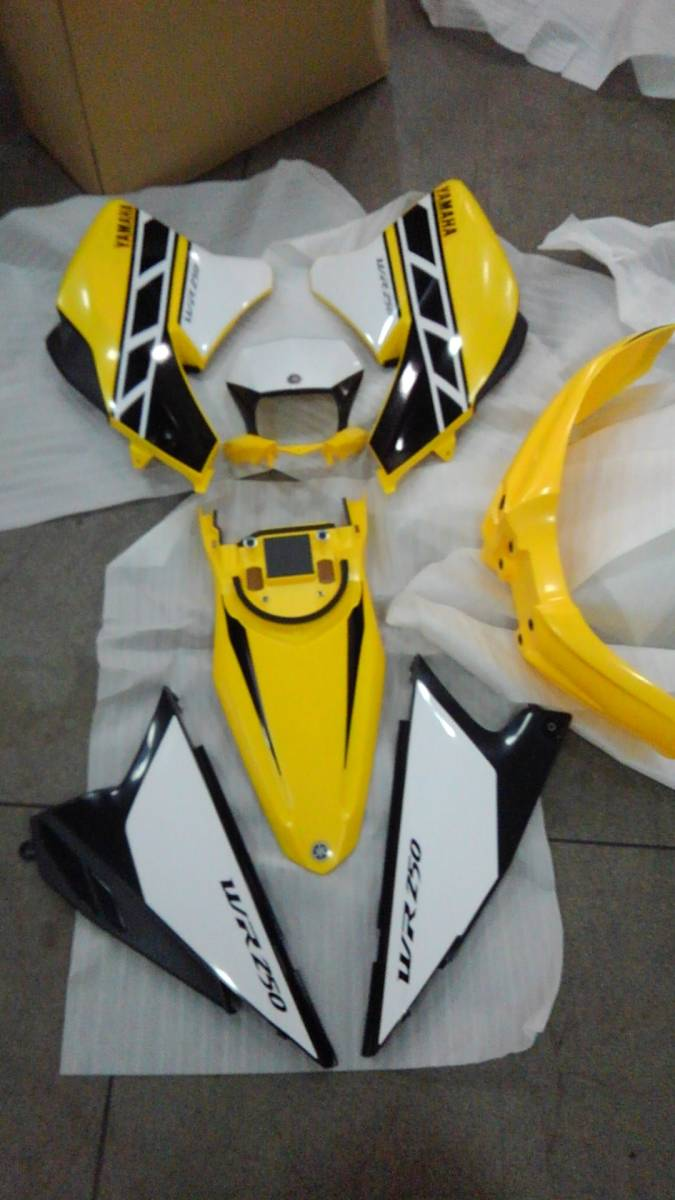 YAMAHA WR250X R WR 外装 キット カウル セット 未使用 新品 貴重 ヤマハ インターカラー 黄色_画像1