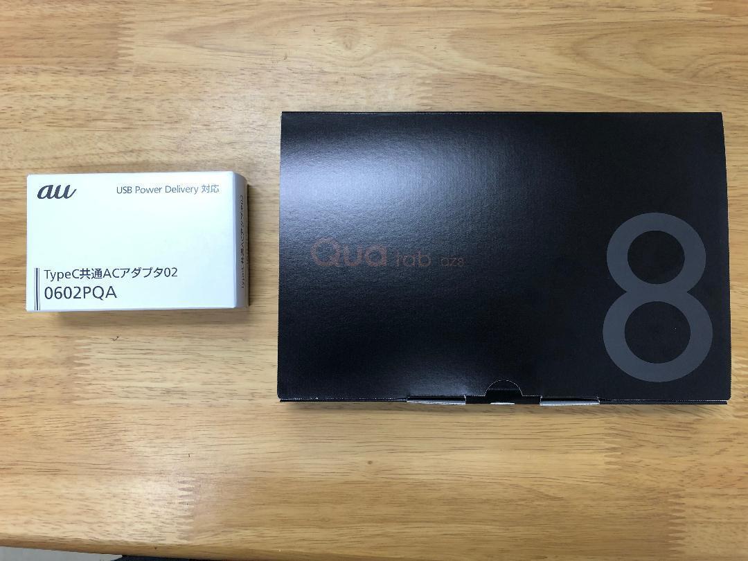 新品 Quatab QZ8 ACアダプタ付きタブレット au_画像2
