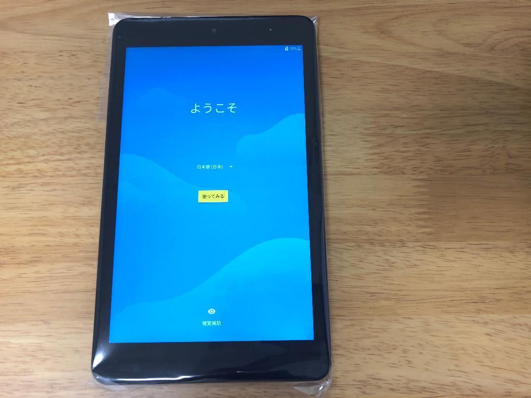 新品 Quatab QZ8 ACアダプタ付きタブレット au_画像3