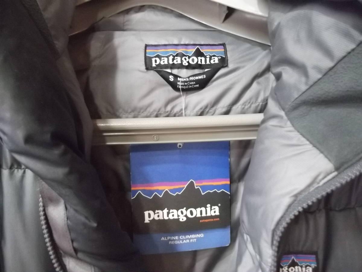 希少 2012 年 パタゴニア フィッツロイ ダウン フーディ ジャケット S パーカ グレー_画像5