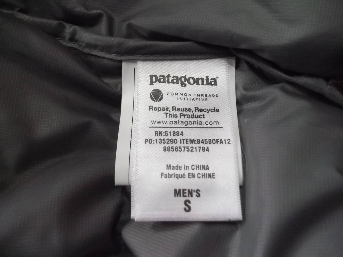 希少 2012 年 パタゴニア フィッツロイ ダウン フーディ ジャケット S パーカ グレー_画像9