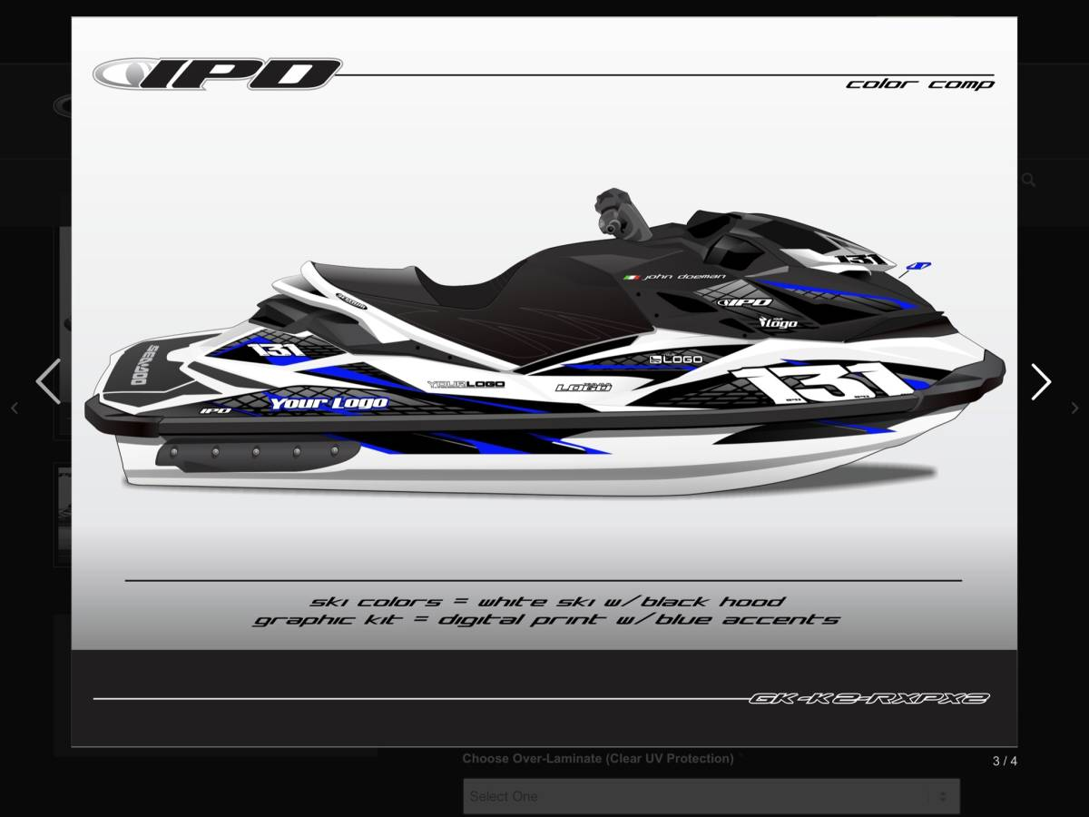 「SEA-DOO RXP 260 300 IPD ステッカーキット」の画像3