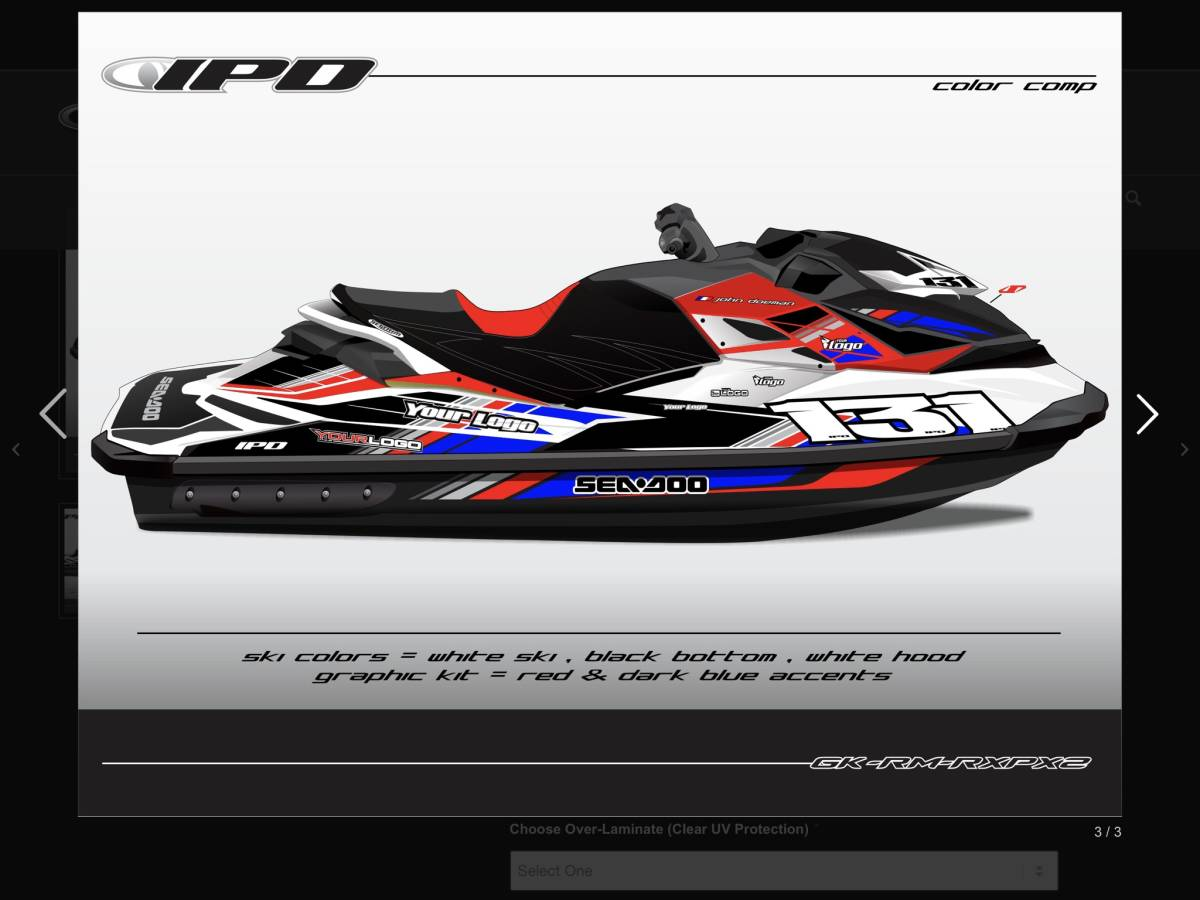 「SEA-DOO RXP 260 300 IPD ステッカーキット」の画像1
