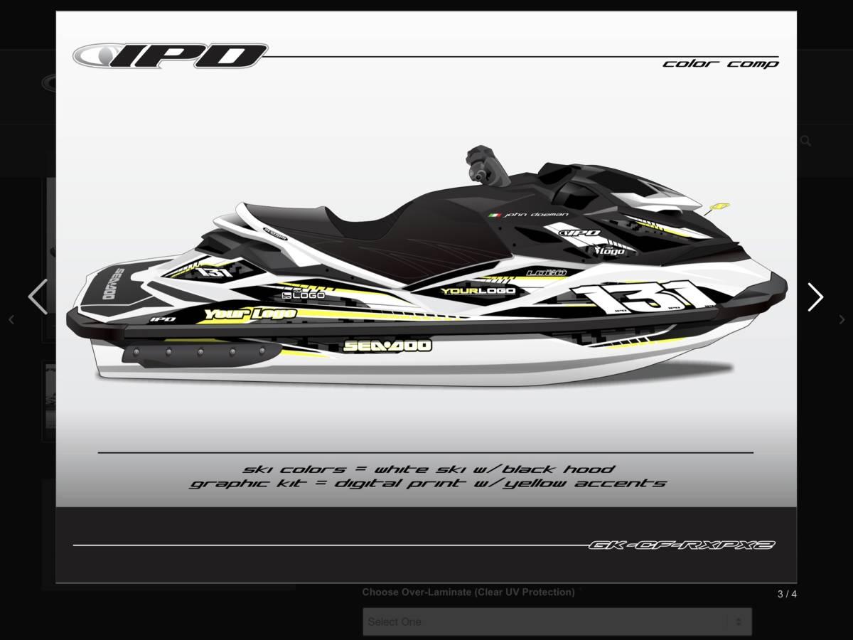 SEA-DOO RXP 260 300 IPD ステッカーキット_画像6