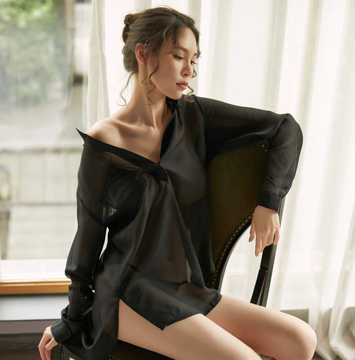 W230白 セクシーランジェリーセット ベビードール コスプレ衣装 浴衣 着物 シャツ ルームウェア 部屋着 レディース 勝負下着_画像9