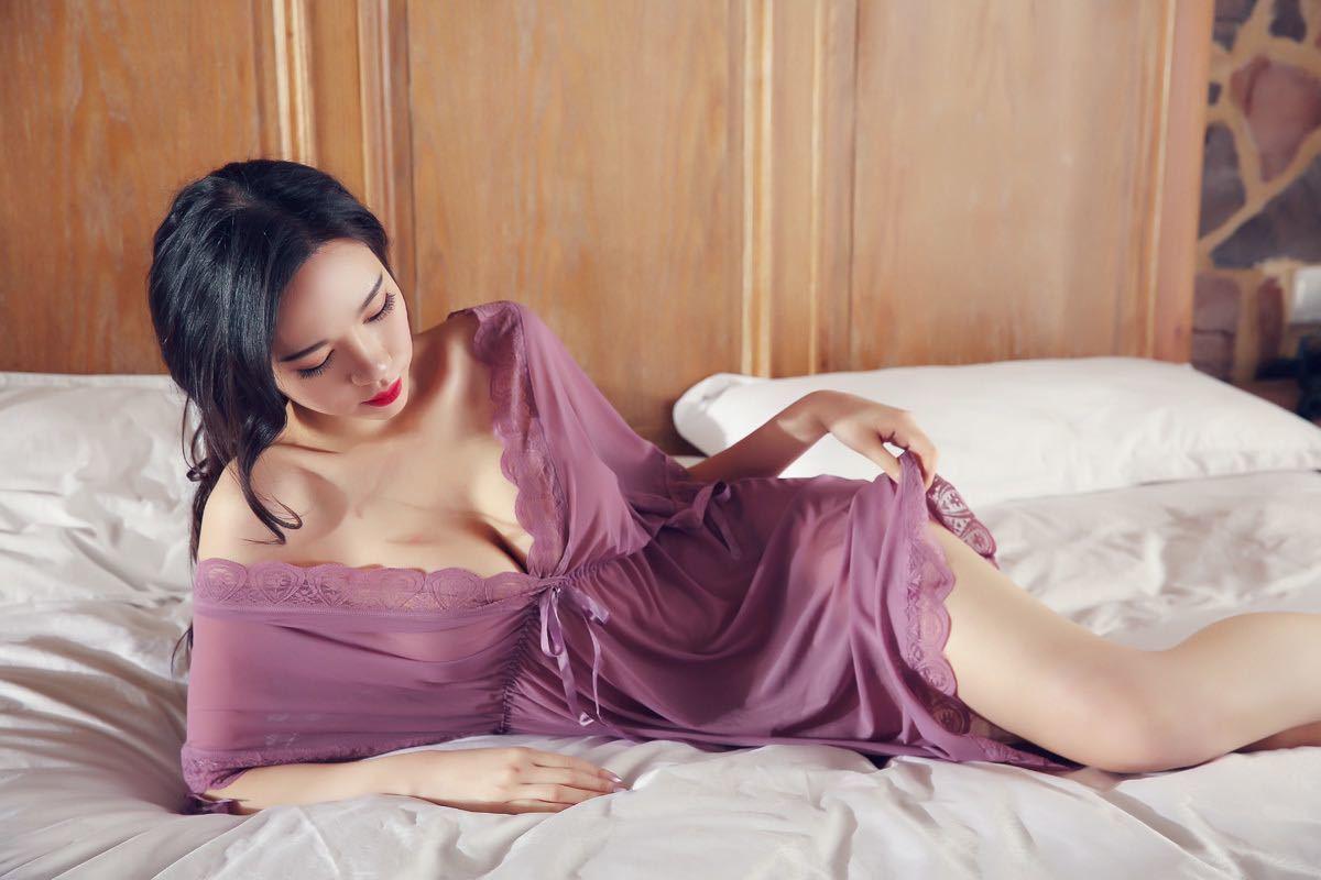 W307紫 セクシーランジェリー ベビードール 大きいサイズ コスプレ衣装 浴衣 ロリータ ルームウェア 部屋着 レディース 勝負下着_画像4