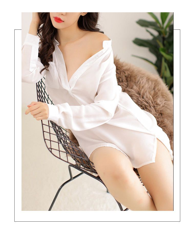W230白 セクシーランジェリーセット ベビードール コスプレ衣装 浴衣 着物 シャツ ルームウェア 部屋着 レディース 勝負下着_画像4