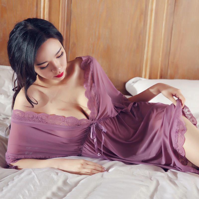 W307紫 セクシーランジェリー ベビードール 大きいサイズ コスプレ衣装 浴衣 ロリータ ルームウェア 部屋着 レディース 勝負下着_画像2