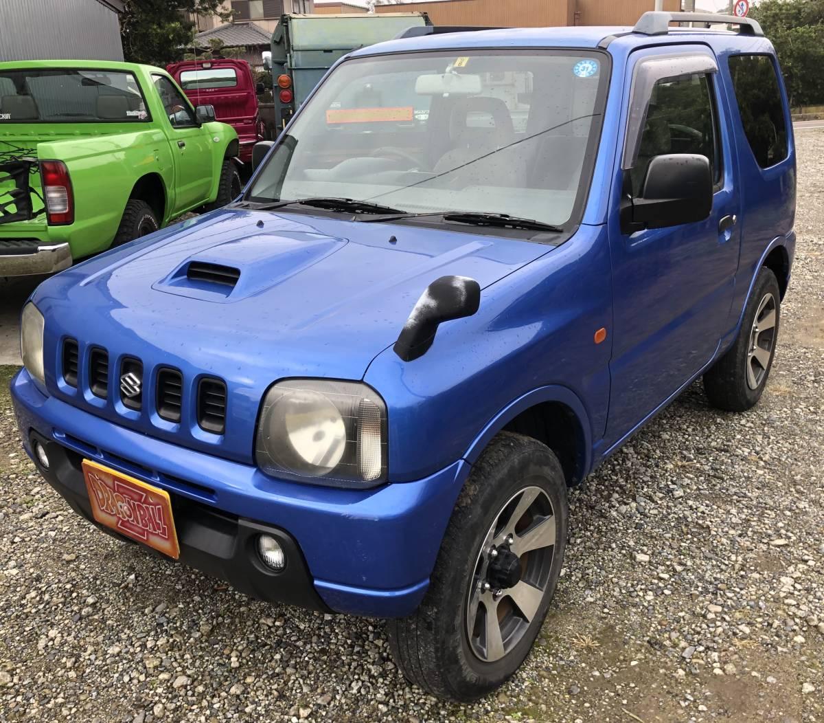 「ジムニー JB23W ターボ 5速MT 4WD切替 車検令和2年6月 ブルー 格安車両」の画像3