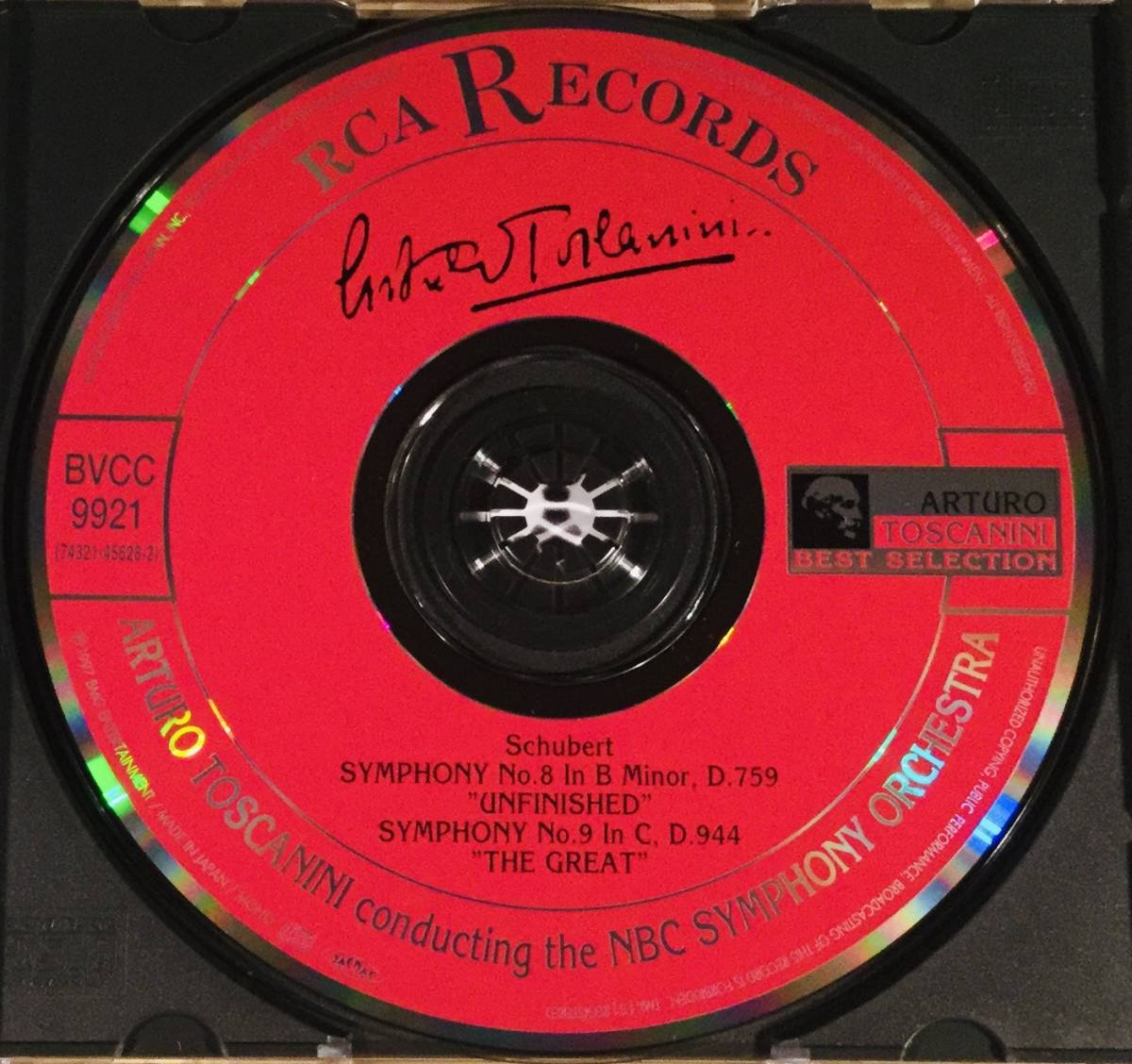 CD(完全限定盤)▲シューベルト:交響曲 第8番『未完成』&第9番『ザ・グレイト』◎アルトゥール・トスカニーニ指揮▲帯付美品!_画像4