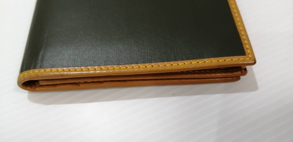 送料無料即納 正規品 ハンティングワールド HUNTING WORLD 二つ折り長財布 バチュークロス 黒 メンズ [r3549]_画像6