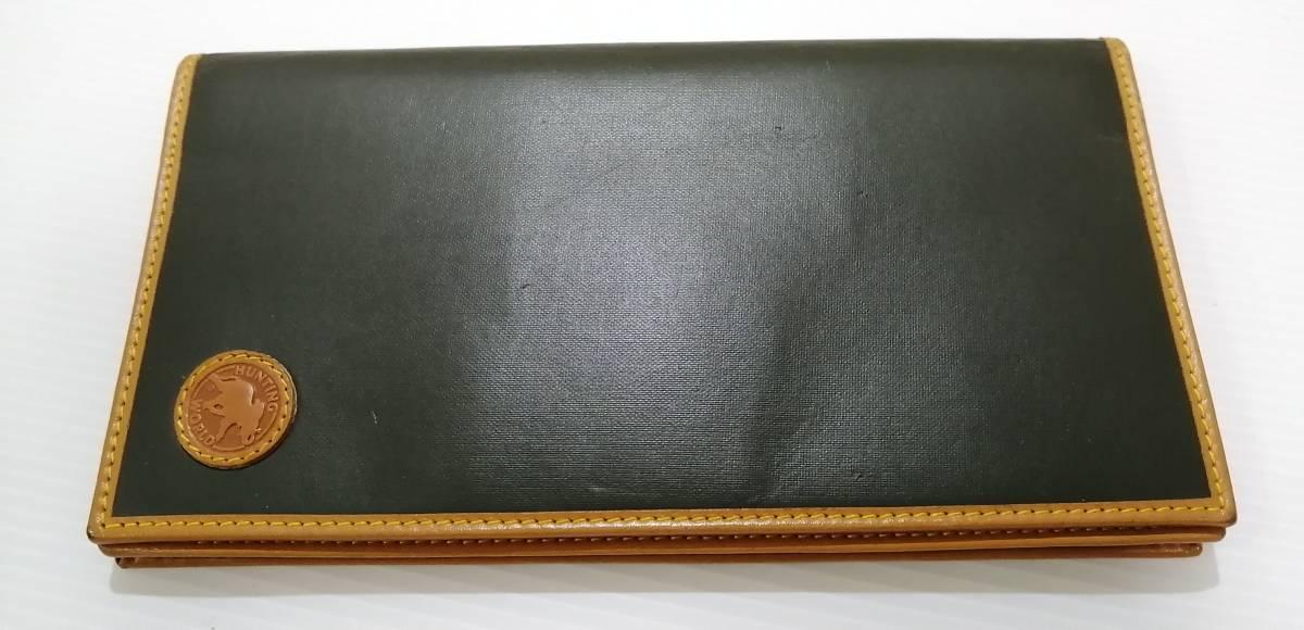 送料無料即納 正規品 ハンティングワールド HUNTING WORLD 二つ折り長財布 バチュークロス 黒 メンズ [r3549]