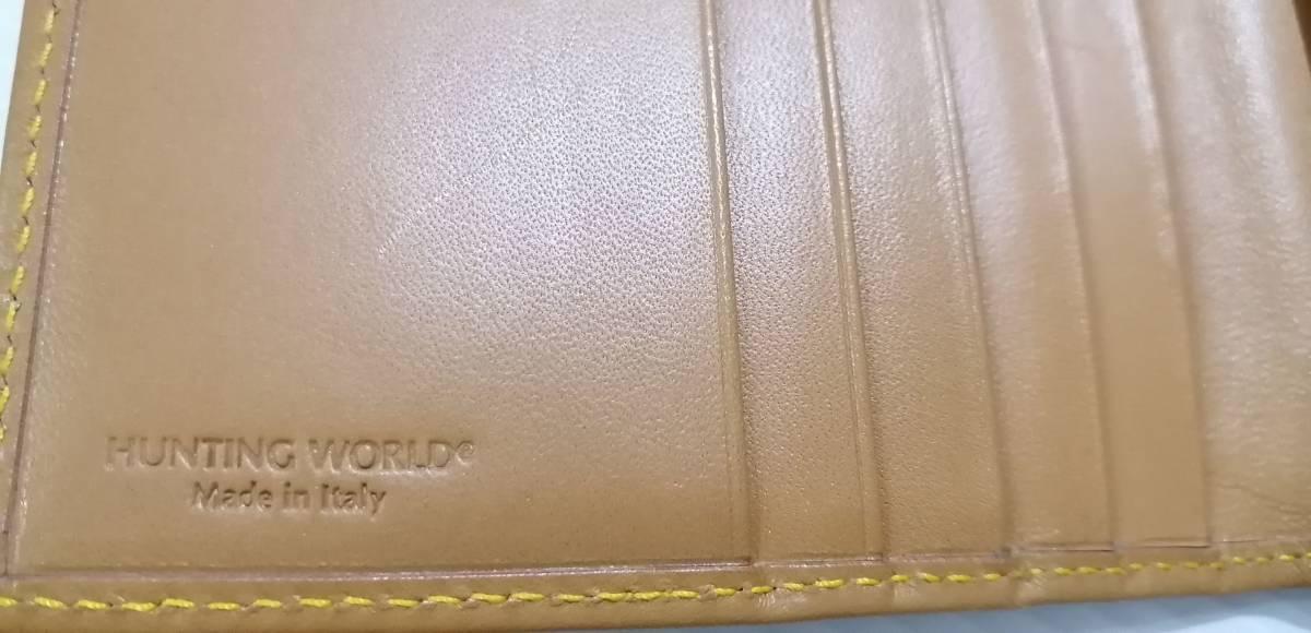 送料無料即納 正規品 ハンティングワールド HUNTING WORLD 二つ折り長財布 バチュークロス 黒 メンズ [r3549]_画像4