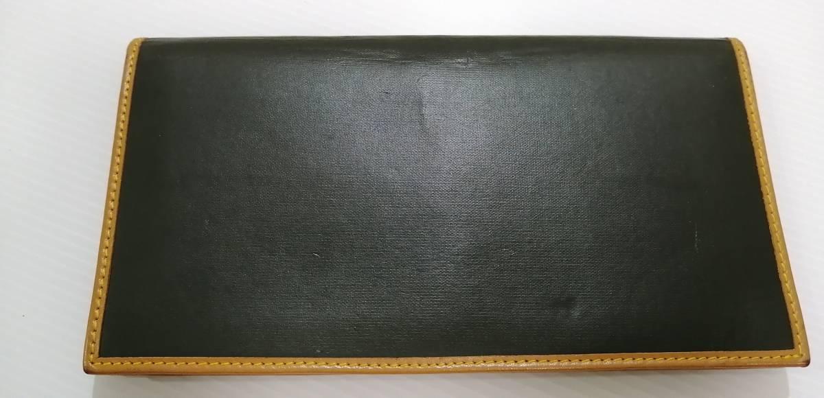 送料無料即納 正規品 ハンティングワールド HUNTING WORLD 二つ折り長財布 バチュークロス 黒 メンズ [r3549]_画像2