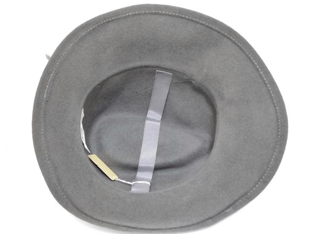 Betmar社 ビンテージ 中折れハット USA製 帽子 グレー 羽根付き ユニオンメイド UNION MADE ソフト帽 レディース_画像7