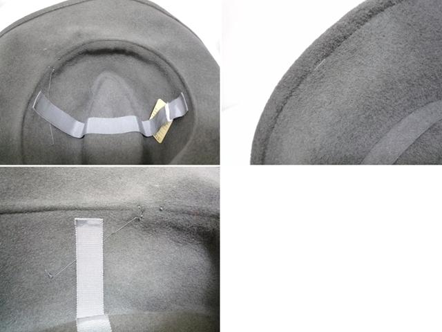 Betmar社 ビンテージ 中折れハット USA製 帽子 グレー 羽根付き ユニオンメイド UNION MADE ソフト帽 レディース_画像9