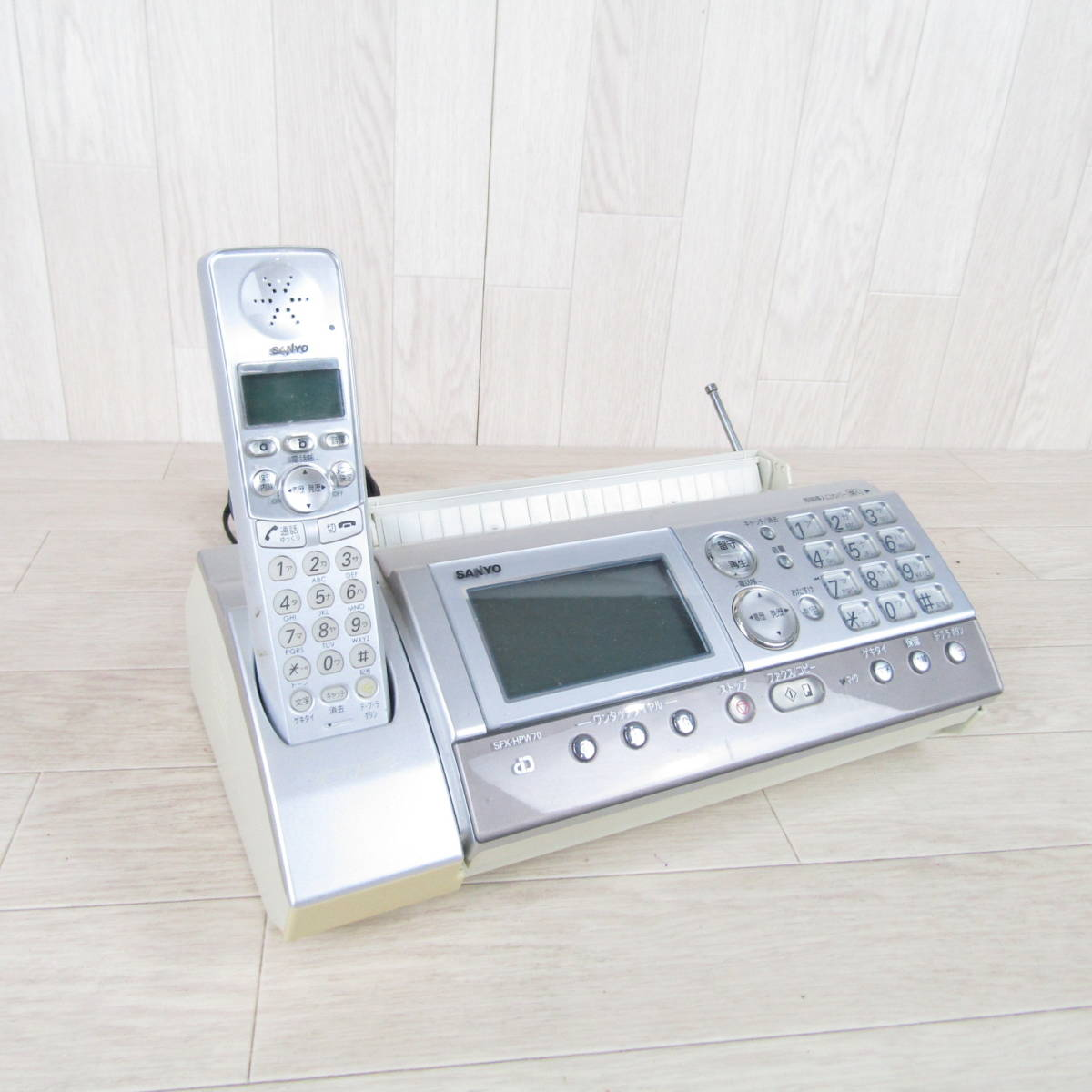 QB1473【1円スタート 激安 生活用品】ファクシミリ電話機 サンヨー SFX-HPW70 FAX 子機 生活家電 家庭用 SANYO ファックス
