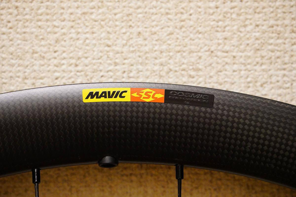 【1円スタート】330,000円 MAVIC COSMIC PRO CARBON SL TU DISC マビック コスミック カーボン チューブラー ディスク 2020継続 CX_画像2