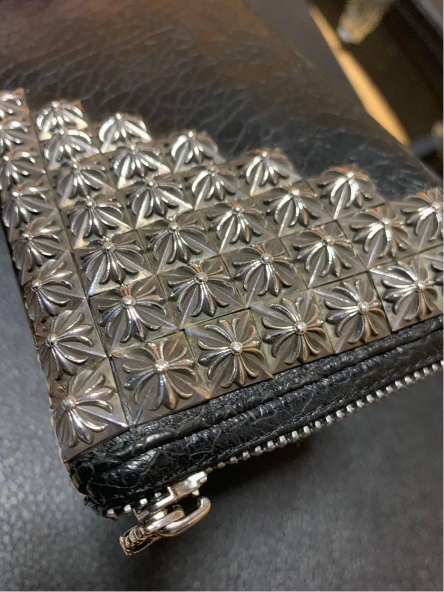 クロムハーツ 財布 ウォレット シルバー ピラミッド _画像3